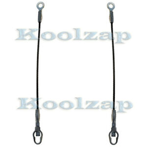 87 12 Dakota Truck 17 Tailgate Tail Gate Support Cable Left Right Side Set Pair