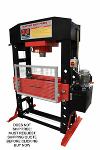 New Redline Re200t Shop Press 200 Ton Auto Automotive Hydraulic Electric Metal