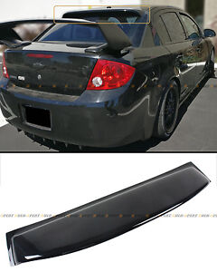 For 2005 2010 Chevy Cobalt 4dr Sedan Glossy Black Rear Window Roof Visor Spoiler