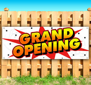 Grand Opening Advertising Vinyl Banner Flag Sign 15 18 20 30 48 52