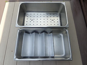 2 vollrath Stainless Steam Table Pan 20 3 4 x12 3 4 x 6 super Pan 21 x12 5