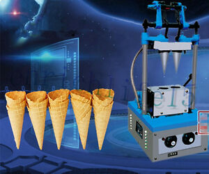New Commercial Automatic Ice Cream Cone Machine Electric Double Cones Maker