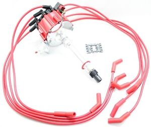Red Hei Distributor Coil Spark Plug Wires Big Block Chevy 7 0l 427 7 4l 454 V8