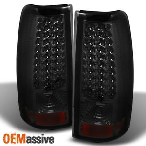 Fits Smoked 03 06 Silverado 04 06 Sierra Pickup Led Tail Lights Lamps Left Right