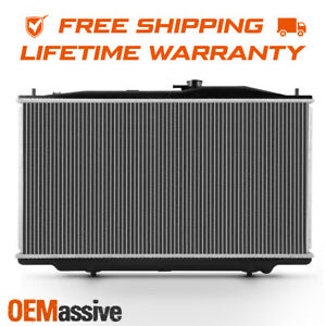 Fits Lifetime Warranty Aluminum Radiator 2571 For 2003 2007 Honda Accord 3 0l V6