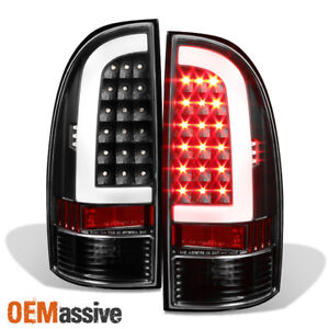 Fits 05 15 Toyota Tacoma Pickup Truck Led Tube Black Tail Lights Brake Lamp Pair