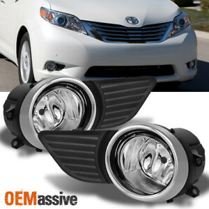 Fits 2011 2015 Toyota Sienna Clear Bumper Fog Lights Driving Lamp W Switch Bulb
