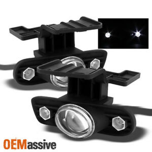 Fits 99 02 Silverado 00 06 Suburban Tahoe Halo Projector Fog Lights Lamps W Led