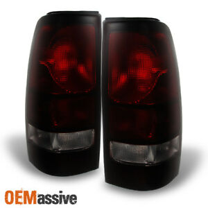 1999 2006 Gmc Sierra 1500 2500hd 3500hd Dark Red Tail Lights Lamps Replacement