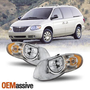 For 2005 2007 Chrysler Town Country Oe Style Headlights Housing Pair Assembly