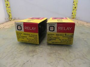 Lot Of 2x Ohmite Gprtsx 24t Dpdt Relays 3 f 23