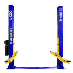 Two Post L1200 Auto Lift 12 000 Lb Capacity Car Vehicle Lift 220v Free Shipping