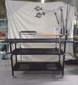 New Us Military Portable Field Operating Table With Lights Manual And Case