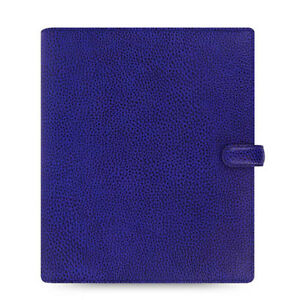 Uk Filofax A5 Finsbury Organiser Planner Diary Electric Blue Leather 022500
