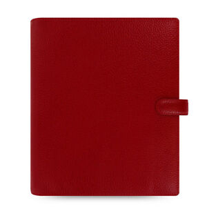 Uk Filofax A5 Finsbury Organiser Planner Diary Cherry Red Leather 022498