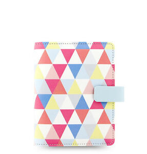 Uk Filofax Pocket Size Geometric Organiser Planner Notebook Diary Leather 027038