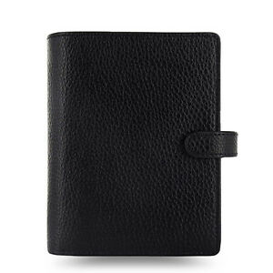 Uk Filofax Pocket Size Finsbury Organiser Planner Diary Black Leather 025360