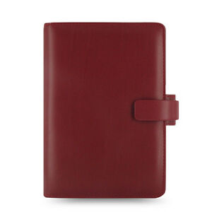 Uk Filofax Personal Size Metropol Organiser Planner Diary Red Leather 026910
