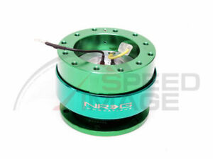 Nrg Steering Wheel Gen 2 0 Quick Release Green Body Green Ring Srk 200gn
