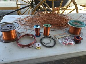 Big Lot Of Mixed Awg Copper Magnet Wire 8 Plus Pounds