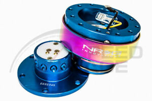 Nrg Steering Wheel Gen 2 0 Quick Release New Blue Body Neo Chrome Ring 200nb mc