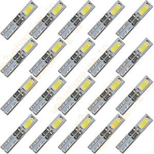 20 X T5 12v 2 5630 Smd Led White Dashboard Gauge Light Car Signal Bulbs Mini