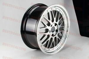 19 Lm Style Hpyer Black Wheels Fits Staggered G35 G37 M35 Toyota Camry