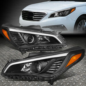 led U halo for 2003 2006 Chevy Silverado Chrome Clear Headlight lamp Set 4pcs
