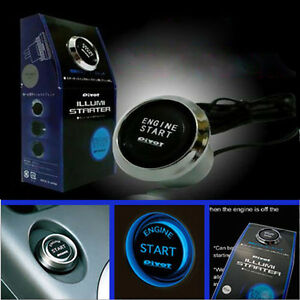 Blue Led 12v Car Engine Start Push Button Switch Ignition Starter Kit Universal