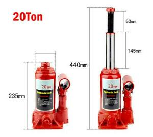 20 Ton Hydraulic Bottle Jack Autos Emergency Hoist Lift Stands Tool