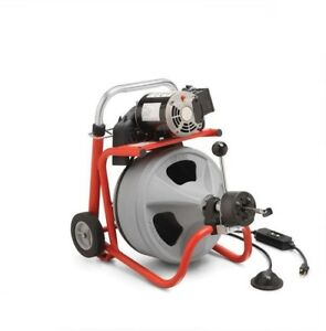 Ridgid K 400af With C 45 Iw Drum Machine For 1 1 2 In To 4 In Drain Lines