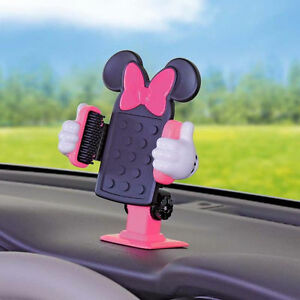 Disney Minnie Mouse 3d Phone Mount Holder Dashboard Phone Gps Car Accessories