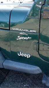1997 2006 Jeep Wrangler Sport 4 0l Replacement Fender Decals Sticker Both Sides