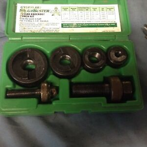 Greenlee Slug Buster Knockout Punch Set 7235bb