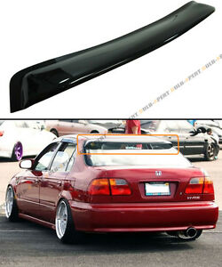 For 1996 2000 Honda Civic 4 Dr Sedan Smoke Tinted Rear Roof Aero Window Visor