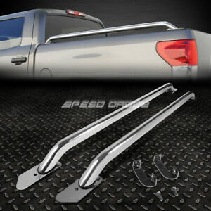 For 14 17 Silverado Sierra 1500 3500 96 Bed 87 Stainless Steel Truck Rail Bars