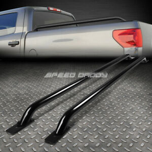 For 07 13 Silverado Sierra 1500 68 69 Bed 58 5 Black Mild Steel Truck Rail Bars
