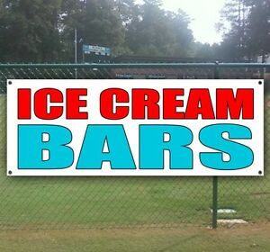 Ice Cream Bars Advertising Vinyl Banner Flag Sign Carnival Fair Food Usa