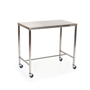 Stainless Steel Instrument Table With H brace 60 l X 24 w X 34 h 1 Ea