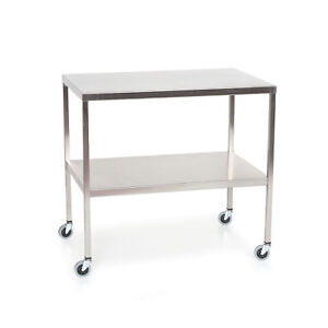 Stainless Steel Instrument Table With Shelf 60 l X 24 w X 34 h 1 Ea
