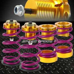 For 06 11 Honda Civic 1 4 Adjustable Purple Spring Coilover Suspension Lowering