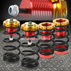 For 12 15 Honda Civic 1 4 Adjustable Black Spring Coilover Suspension Lowering