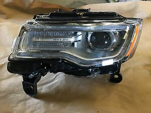2014 2016 Jeep Grand Cherokee Left Lh Xenon Headlight Headlamp Non Afs Parts