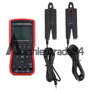 Intelligent Double Clamp Digital Phase Volt ampere Meter Etcr4000a
