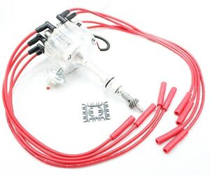 Clear Hei Distributor Coil 8 5mm Spark Plug Wires 62 76 Ford 221 260 289 302 V8