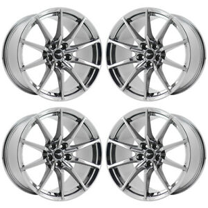19 Ford Mustang Shelby Gt350 Pvd Chrome Wheels Rims Factory Oem Set 10053 10054
