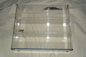Acrylic Locking Cabinet W 3 Fixed Shelves w6323