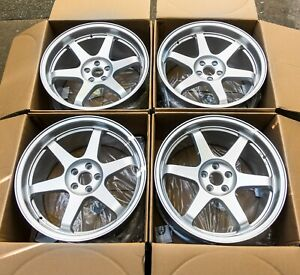 18 X 9 5 5x100 Square Wheels 4 Set Rims Toyota Subaru Vw Concave Te37 Jdm sale