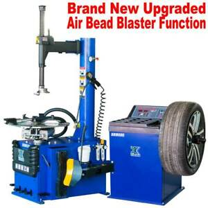 New 1 5 Hp Tire Changer Wheel Changers Machine Combo Balancer Rim Clamp 950 680