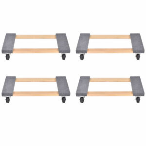 4pcs 30 18 Furniture Dolly Moving Carrier Mover Handle Casters 1000lb Capacity